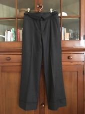 WOW!!! Comptoir des Cotonniers Charcoal Wool Cuffed Trousers Amazing Detail SZ36