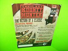 Global VR The LAST BOUNTY HUNTER Original 2002 Video Arcade Game Sales Flyer