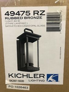 Kichler South Hope 1-Light Outdoor Wall Lantern Rubbed Bronze 49475 RZ 49475RZ