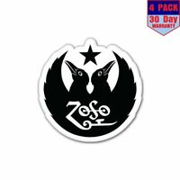 Led Zeppelin Black Crowes Zoso 4 Stickers 4x4 Inch Sticker Decal