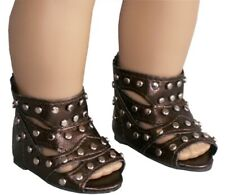 """Copper Brown Gladiator Roman Greek Sandals fit 18"""" American Girl Size Doll"""