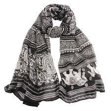 Fashion Women Ladies Neck Stole Elephant Print Long Scarf Shawl Wrap Pashmina