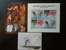 G200  DOMINICA OLYMPICS  1997  NAGANO +  ATLANTA  1996  3 X  S/S  MNH