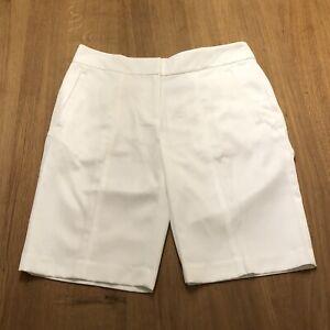 Woman's Golf Izod White Bermuda Length Shorts Size 6
