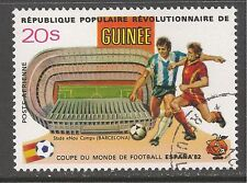 Guinea #C155 (A123) VF USED - 1982 20s World Cup / Soccer Players / Stadium