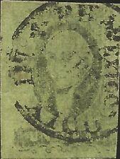 J) 1861 Mexico, Hidalgo, Un Real, Mexico District, Dry Print, Circular Cancellat