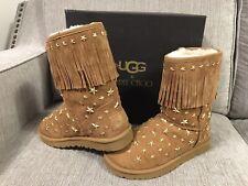 Genuine Jimmy Choo UGG Australia Starlit Chestnut Fringe Boots Size UK 6.5 Boxed