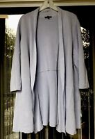 EILEEN FISHER Cardigan Jacket Women's Size 2X Baby Blue Silk Organic Cotton