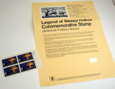 USA Sc# 1548 MNH  BLOCK of (4) Sleepy Hollow Legend Stamps MNH w USPS Info Sheet