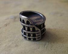 Edelstahl Bead Element Kolosseum Antiksilber Silber für Armband 1440