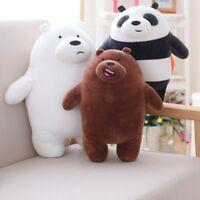 30cm We Bare Bears Plush Toy Cartoon Stuffed Grizzly Gray White Bear Panda