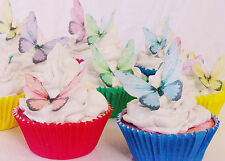 Butterfly Edible Cupcake Topper 10pc Fairy Wing Rainbow Party Funeral Enchanted