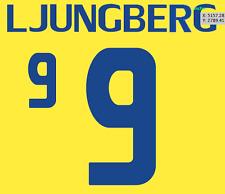 Sweden Ljungberg Nameset Shirt Soccer Number Letter Heat Print Football 2008 H