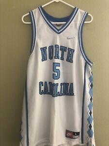 NORTH CAROLINA TARHEELS #5 VTG TEAM NIKE WHITE NCAA BASKETBALL JERSEY L