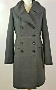 Ruby and Ted Grey Military Style Coat Size UK 10