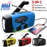 SOS Emergency Solar Hand Crank Dynamo AM/FM/WB Radio 3LED Flashlight USB Charger
