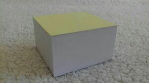 3 Jotter Blocks Memo Notepad Reminder Paper Cube 450 WHITE SHEETS EACH 9X9 cm