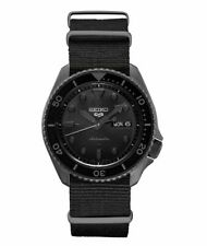 Seiko 5 Sports 42.5mm Black Case Black Nylon Strap Men's Watch - (SRPD79)