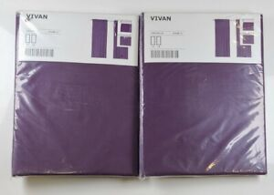 IKEA Vivan Curtains 4 panels Lilac Curtains New sealed package lot of 2 eggplant
