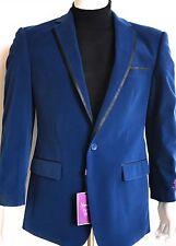 "Vinci Mens French Blue Velvet Style Blazer (sports Coat) ""size: M"""