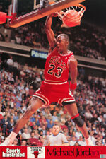 POSTER: NBA BASKETBALL : MICHAEL JORDAN - RED UNIF - CHICAGO BULLS  #7416  RC1 G