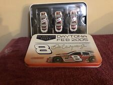 ACTION ~ DALE EARNHARDT JR ~ #8 BUDWEISER SET in TIN ~ DAYTONA ~ FEB 2005 ~ 1/64