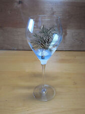 "Glassware Fordice Mark Paul Set of 6 Wine Goblets 10"" PALM TREES Hand Painted"