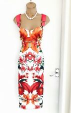Stunning Ted Baker Tropical Print Dress Size 4/ Uk 14 /Wiggle Pencil Party