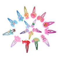 10x Mixed Assorted Baby Kid Cartoon Hair Pin Clips Children Girls Hairpin RASK
