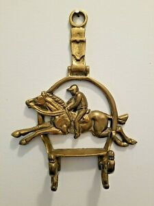 Brass Horse Wall Hook  Vintage Wall Hook Figural Wall Hook Equestrian Hook Wall Hook Hat Rack Coat Rack