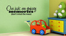 our kids are making memories vinyl wall lettering quote art/family room/sticker