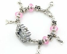 Watch Style Charm Bracelet Fit European Bead 20cm Free Ship WN022