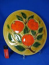 70´s flower power design cake plate / Kuchenplatte Vallauris Keramik France 29cm