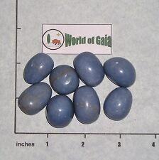ANGELITE Soft Blue, medium tumbled, 1/4 lb, bulk stones Peru 7-9 pkg rounded