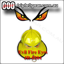 Printed COLOUR Evil Fire Eyes Decal