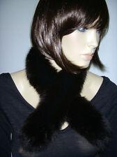 COLLO VOLPE PELLICCIA marrone scuro Fox Collar x cappuccio giacca sciarpa D0050