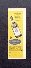 L854- Advertising Pubblicità -1960- MARTELL COGNAC , AGENTE DITTA CARLO SALENGO