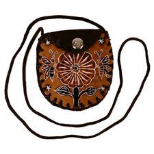 """#4096 Fair Trade Artisan Hand Carved Gourd Coin Pouch Purse Peru 3""""x4"""" Natural"""