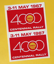 SHELL 4000 RALLY Classic Car COMPETITOR 1967 Race sticker MINI COOPER TRIUMPH