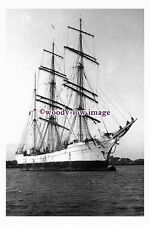 rs0096 - French Sailing Ship - Bourbaki , built 1898 - photograph