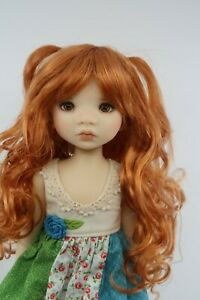 Monique SWEET PRINCESS Wig Carrot Red Size 6-7 YoSD BJD shown on My Meadow Avery