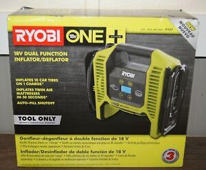 New! Ryobi 18Volt ONE+ Cordless Dual Function Inflator/Deflator(P747)[Tool Only]