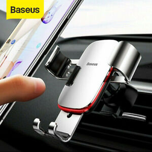 Baseus Aluminum Gravity Car Phone Holder Air Vent Stand Mount For Mobile Phone