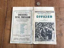 papier ancien militaire numéro 16 comment on devient officier
