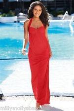 New Womens Red Halter Neck Maxi NEXT Dress Bra Size 36 C RRP £40 DEFECT