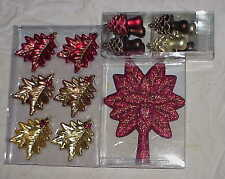 15 NIB Martha Stewart WINTERBERRY Christmas ornament Leaves Mushroom Trees