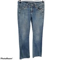 American Eagle True Boot Cut Womens Stretch Low Rise Jeans Light Wash Size 4 Reg