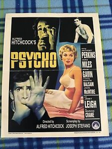 VINTAGE MOVIE POSTER THEATER ORIGINAL ALFRED HITCHCOCKS PSYCHO 11x14 HORROR 1960