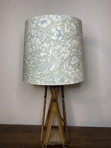 William Morris Kelmscott Aqua Lily Leaf Handmade Lampshade