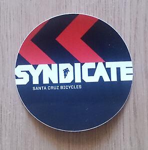 "Santa Cruz Bicycles ""Syndicate"" bumper sticker"